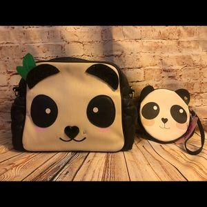 Betsey Johnson panda bag with matching coin purse